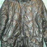 Куртка лыжная женская очень теплая бронзового цвета размер М