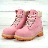 Женские зимние ботинки timberland натуральный мех 36 37 38 39 40 рр