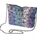 Красивая блестящая разноцветная сумка Звездное небо