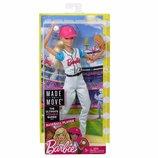 шарнирная кукла Барби блондинка бейсболистка