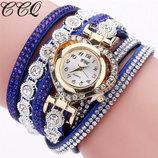 Модные стильные женские часы-браслет CCQ
