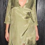 100% вискоза платье миди с запахом ASOS UK 10