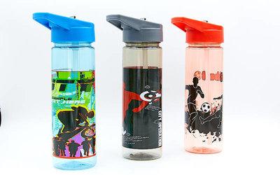 Бутылка для воды спортивная Basketball 6639 3 цвета, объем 600мл