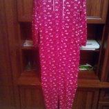 Женский флисовый слип, пижама, домашний костюм 42-44 р.