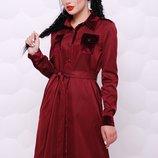 Стильное платье-рубашка ткань каттон-мемори Prestige PL-1524В скл.8