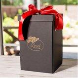 Подарочная коробка для розы в колбе Lerosh - 27 см, Черная