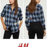Рубашка сорочка в клетку хлопок бавовна от h&m