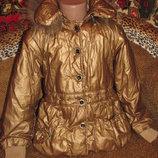 Классный пуховик куртка для девочки