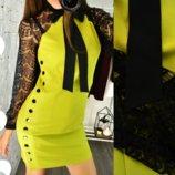 6 цветов с 42по 48рОригинальные короткие коктельные платья с кружевными рукавами