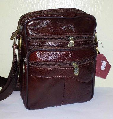 Мужская сумка из натуральной кожи c-113 23х19x10см