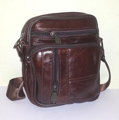 Мужская сумка из натуральной кожи 18x15x7см арт.954
