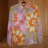 Батистовая стильная рубашка Sisley, оригинал, M