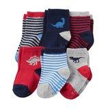Комплект носочков носки для мальчика Carters полоска и динозавры
