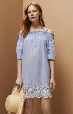 Платье с открытыми плечами и вышивкой Primark р. 14