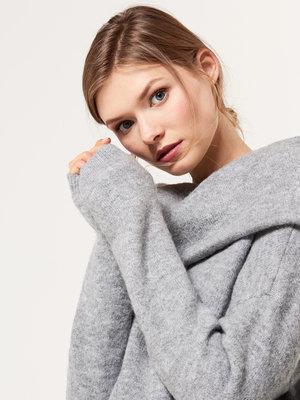 Шикарный пуловер с ангорой р. m mohito кофта джемпер