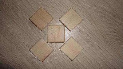 Заготовки для рун. Клен. Плашка квадратная 4 см