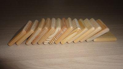 Заготовки для рун. Сосна. Плашка квадратная 4 см