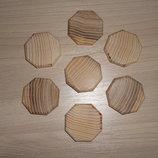 Заготовки для рун. Ясень. Плашка восьмиугольная 4 см