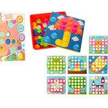 Мозаика с крупными фишками и шаблонами карточками 2929-81-1