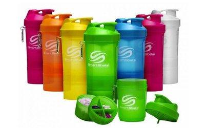 Шейкер 3-х камерный для спортивного питания Smart Shaker Original 5053 пластик, объем 400 100 100мл