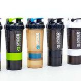 Шейкер 2-х камерный для спортивного питания Spider Bottle 6389 пластик, объем 500 100мл