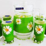 Красивый Набор для воды LUMINARC Paquerette Green 7 пр