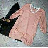 Удлиненная блуза рубашка кофта оверсайз