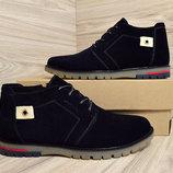 ботинки зимние мужские 41.42.44 размер замша натуральная мех скидки распродажа