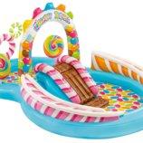 Детский надувной центр Intex 57149 «Карамель » 259 х 191 х 130 см с шариками горкой и фонтаном