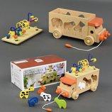 Машинка деревянная Лабиринт-сортер