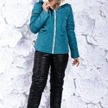 Новинка Супермодный очень теплый костюм на овчине, р. 42-56 цвета