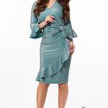 Вечернее платье трикотаж с люрексом