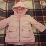 Курточка, куртка на девочку демисезонная на флисе. Новая. Польша.