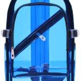 Рюкзак синий прозрачный однотонный вместительный унисекс
