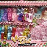 лялька з одягом коробка