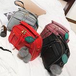 Женская сумочка маленькая объемная, 9 цветов