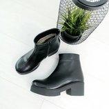 Женские зимние ботинки кожа и замша натуральная