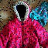 Деми-Еврозима куртка на девочку 5-6 лет