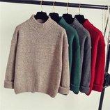 Стильные свитерки свободного кроя 42/46 четыре цвета