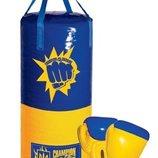 Боксерский набор Мал «Украина». В комплект входит груша и две боксерские перчатки