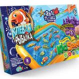 Большая настольная игра «Клёвая рыбалка» и KidSand кинетический песок для детей