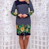 Платье 3 цвета 50,52,54,56 размеры