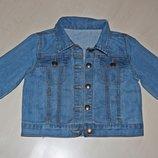 курточка джинсовая 3-6 лет