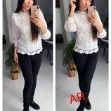 Красивая блуза 4 цвета 42-46 размеры