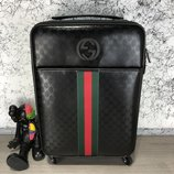 Чемодан Gucci Rolling Luggage Signature 55 with Web Black