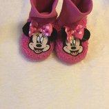 Розовые тапочки Disney с Минни 12-18М на ножку 11,5-12,5см