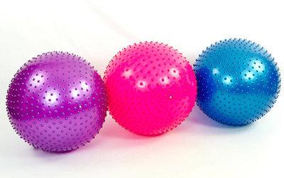 Мяч для фитнеса фитбол массажный Zel 1987-65 диаметр 65см, 3 цвета
