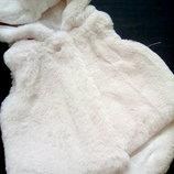 Шикарная меховая жилетка для малышки 0-3 мес.