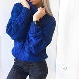 Тёплый свитерок с горлом три расцветки