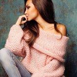 Тёплые свитерки крпной вязки 42-48 четыре расцветки